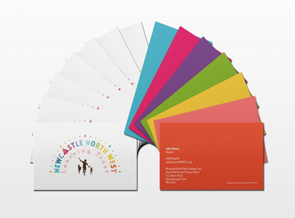 MarkDesigner - Newcastle North West Learning Trust -Business card ...