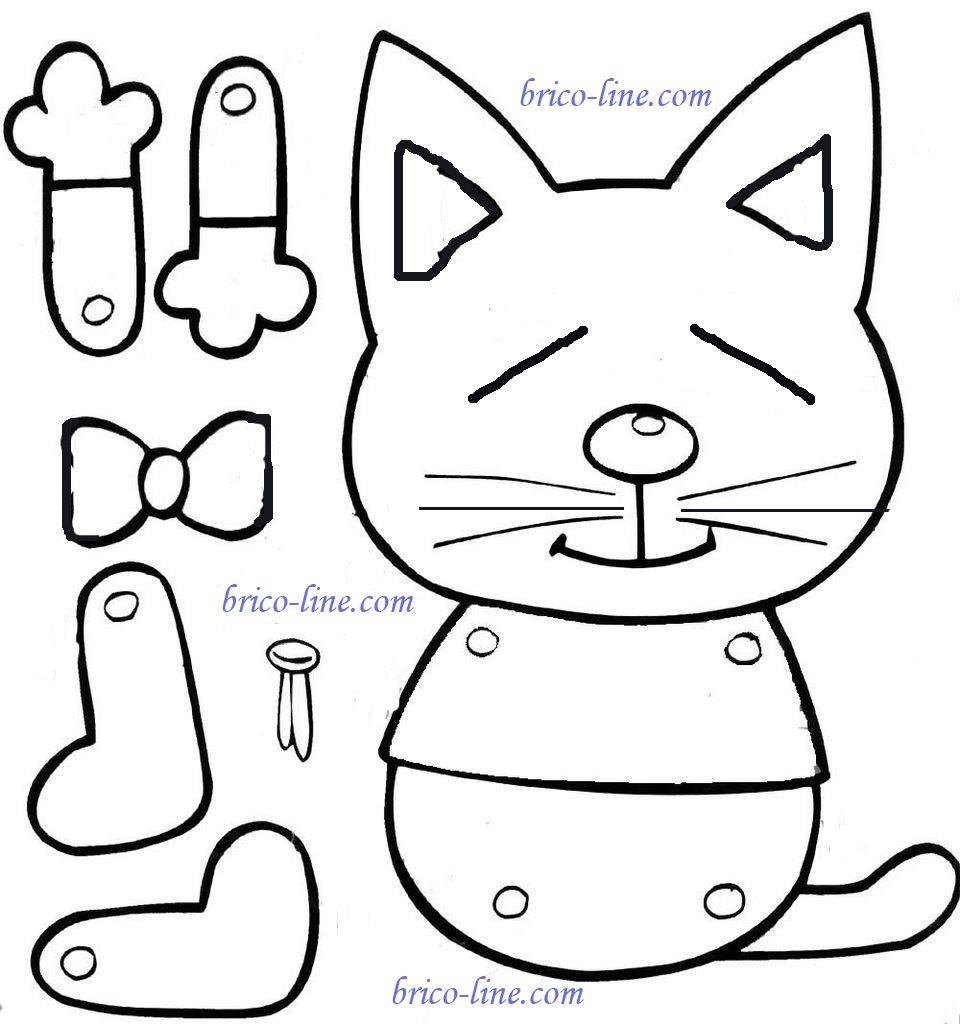Chat mobile brico line activit enfant pinterest - Chat a colorier maternelle ...