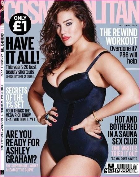 bf5399db8aed7 Cosmopolitan UK January 2017 Cover (Cosmopolitan UK) | Famous face ...