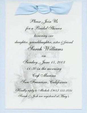 bridal shower invitation sample 1