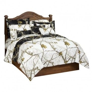 Realtree Ap Black Reversible Bedding Set And I Want This Bedding