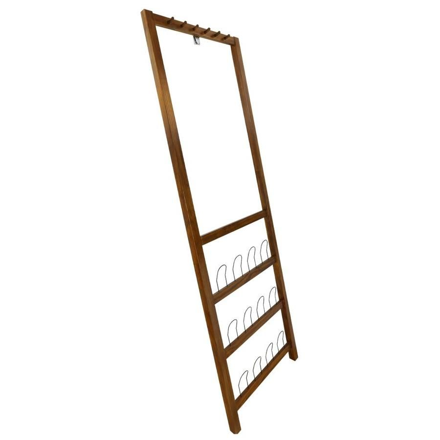 Casual Home Studio Leaning Coat And Shoe Rack Warm Brown 117 15 In 2020 Coat And Shoe Rack Casual Home Coat Rack