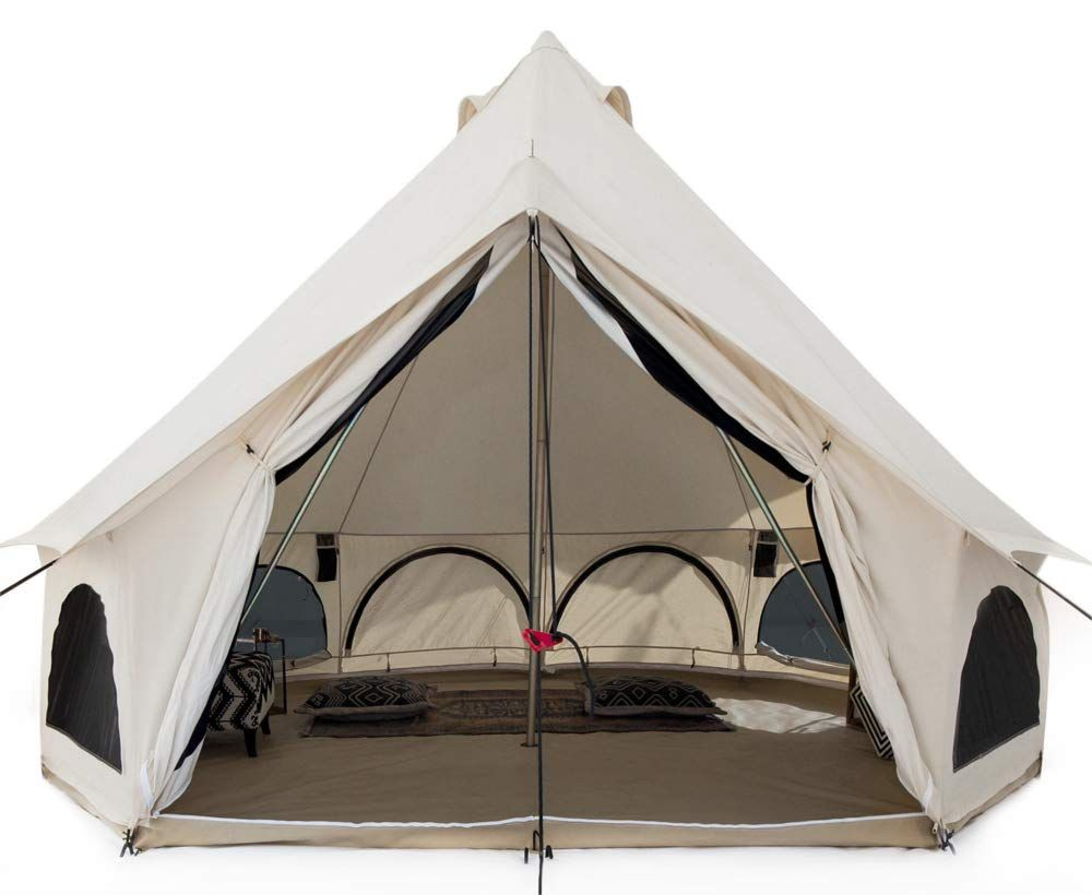 White Duck Outdoors Premium Canvas Bell Tent Best Canvas Tents Tent Stove Bell Tent Tent Glamping