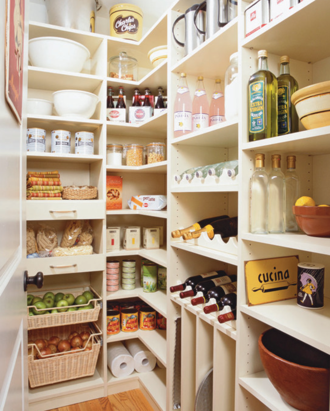 Full Wall Of Shelves In Pantry Pantry Design Spacious Kitchens