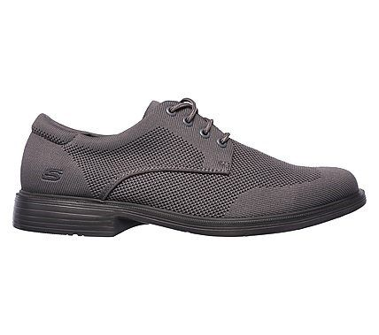 669691144b4c Skechers Men s Relaxed Fit Caswell Aleno Wing Tip Oxford Shoes (Gray)