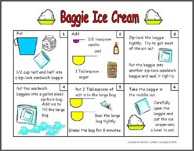 Ice Cream In A Bag Recipe Preschool Make Baggie With Your Students