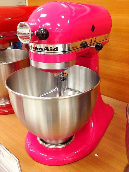 Hot Pink Mixer Kitchen Aid Hot Pink Kitchen Pink Kitchen Appliances Pink Kitchenaid Mixer