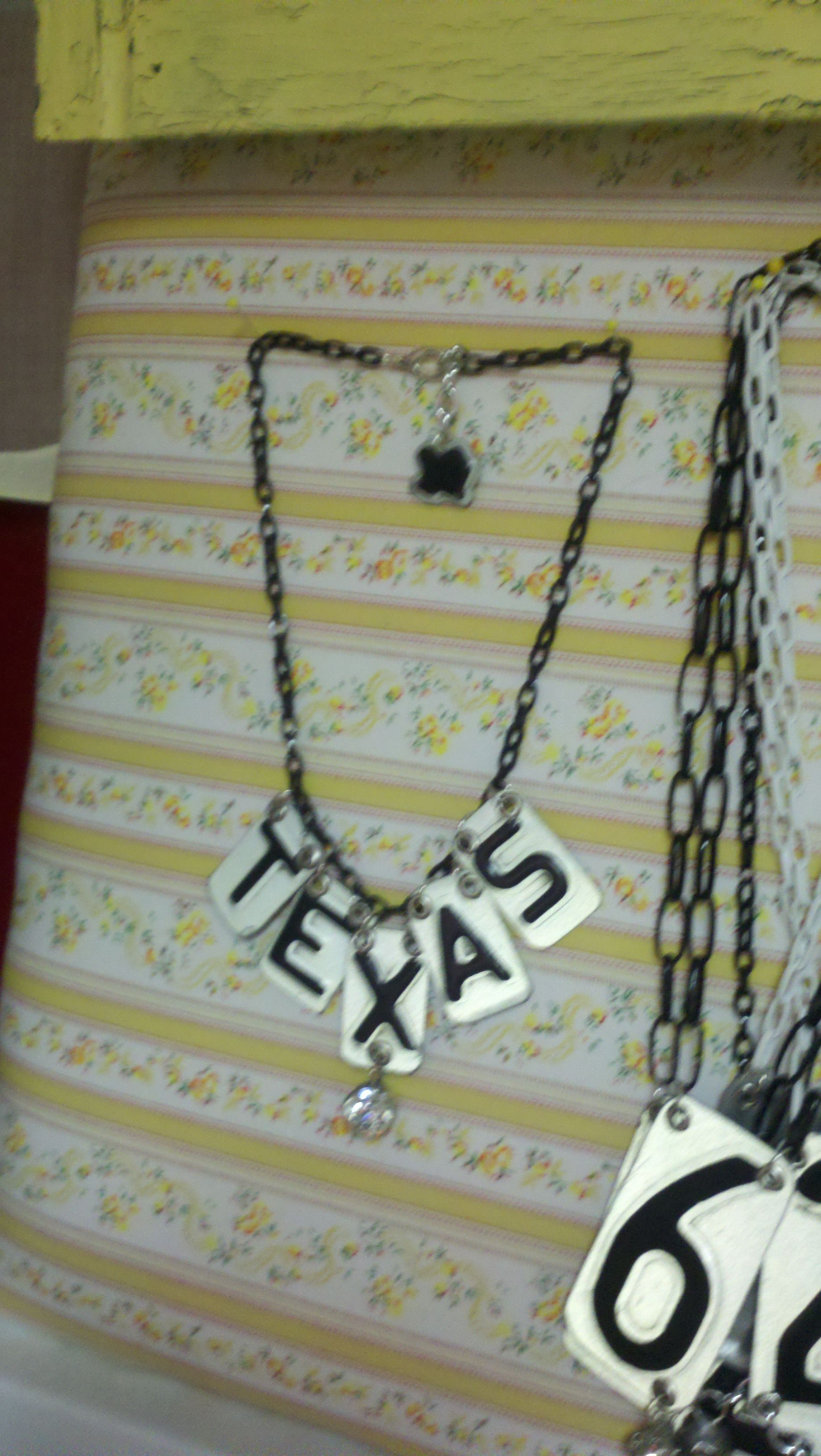 License Plate Texas Necklace Hardware Jewelry Elizabeth Jewelry I Love Jewelry