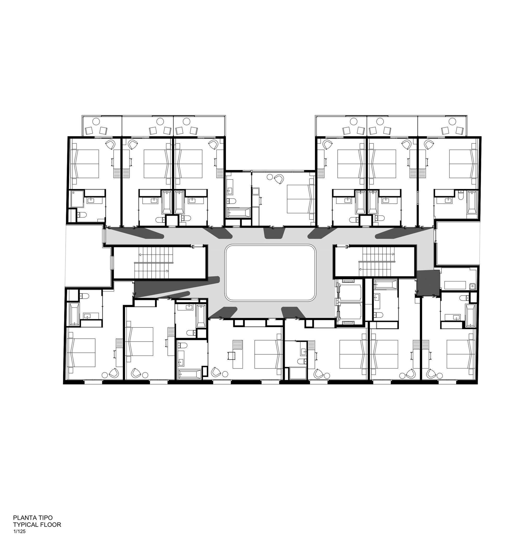 Hotel Vincci Gala Barcelona Tbi Architecture Engineering Floor Plan. Design  Hotel New York. Hotel