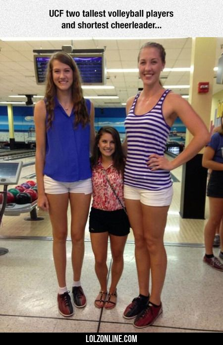 Ucf Two Tallest Volleyball Players #lol