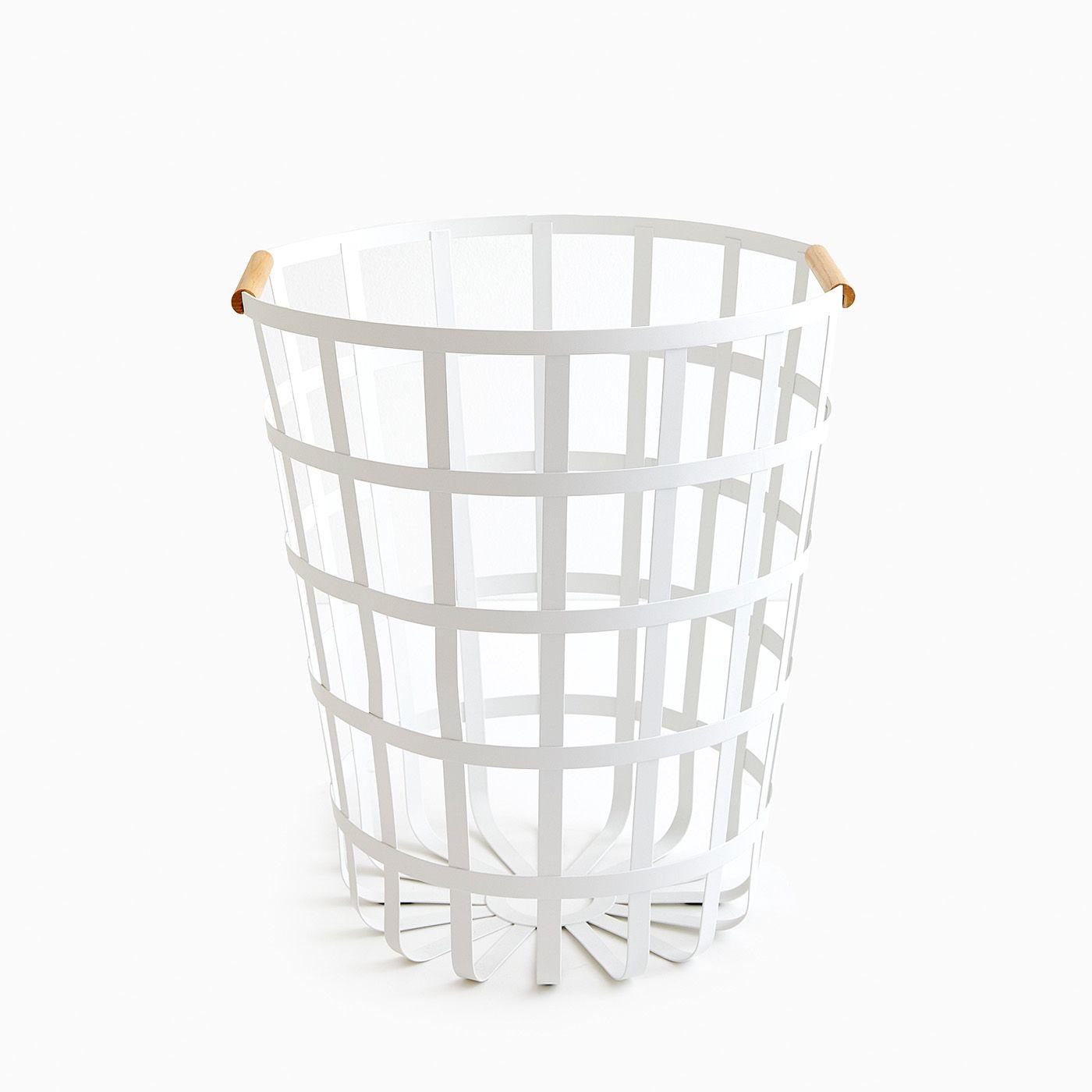 Tosca White Round Laundry Basket Laundry Hamper Laundry Basket