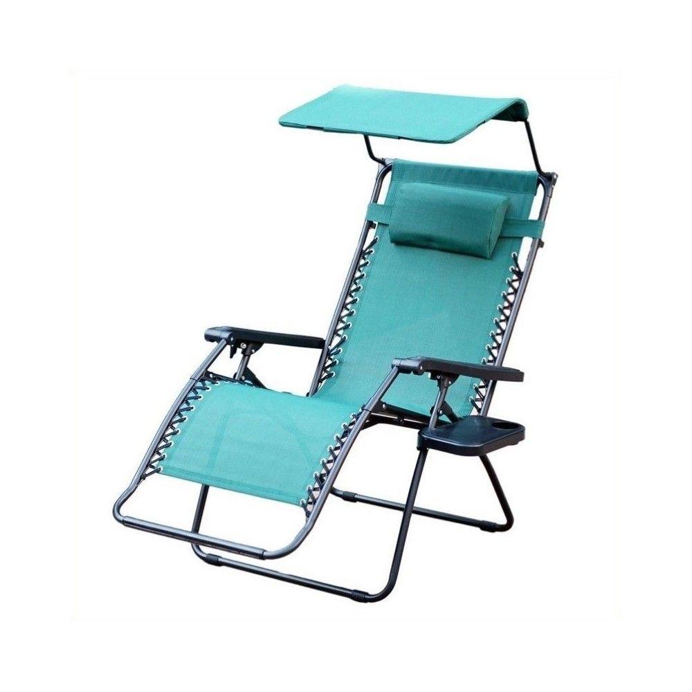 Oversized Zero Gravity Chair with Sunshade in Green Jeco