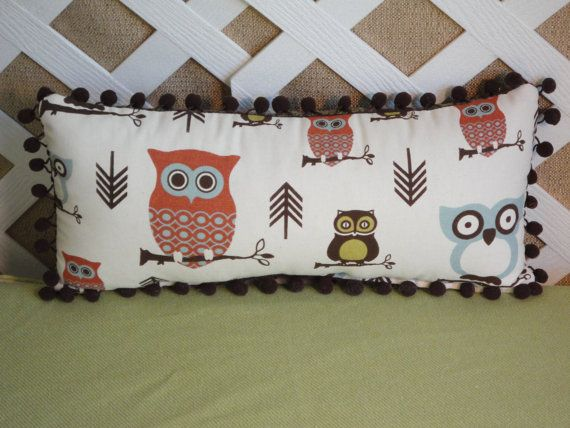 Sweet Owl Pillow For An Owl Nursery Love The Scale And Those Pom