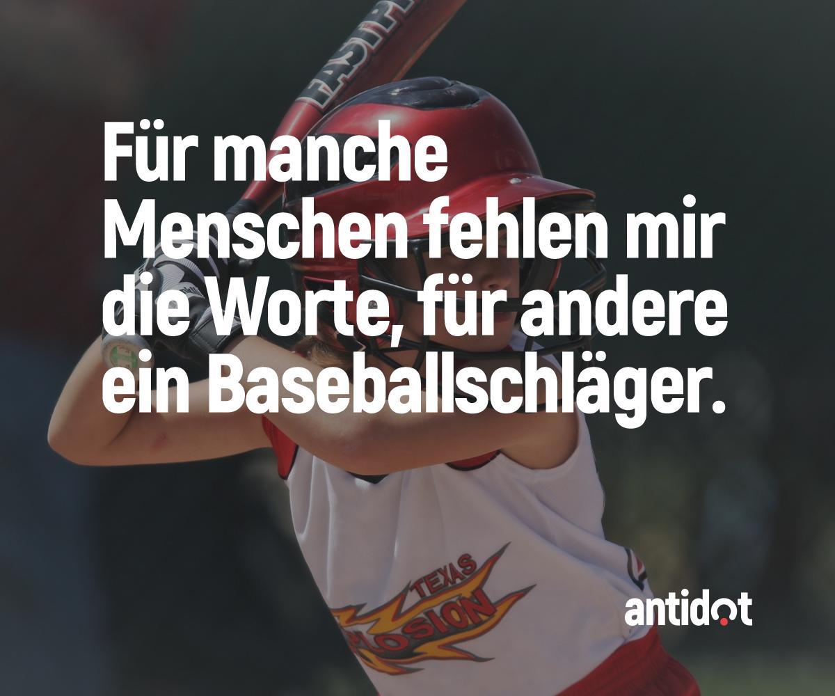 Wer kennt solche Menschen? #antidot #wut #spaß #sauer #baseball