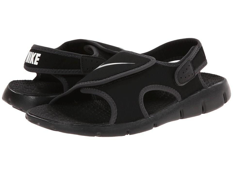 52326e4f2b05ec Nike Kids Sunray Adjust 4 (Little Kid Big Kid) (Black White Anthracite) Boys  Shoes