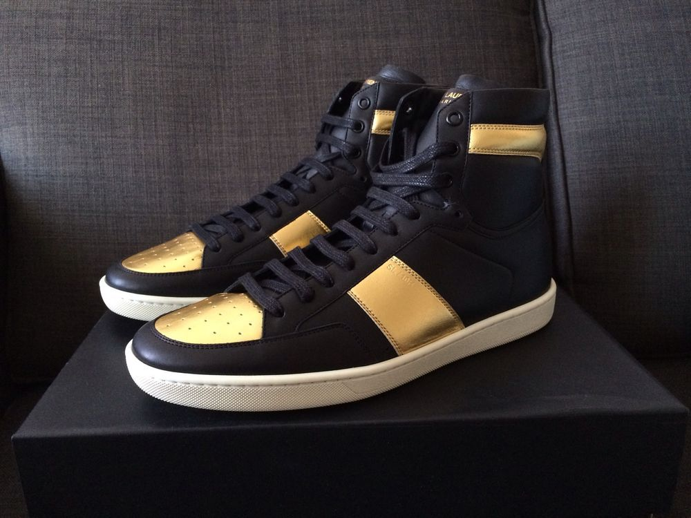 ccfb96a47f2 Details about Saint Laurent Court Classic SL/10H Leather Sneaker ...