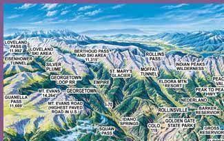 colorado front range maps pinterest front range