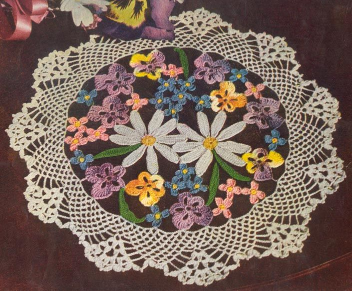Crochet Flowers And Crochet Flower Patterns Allfreecrochet