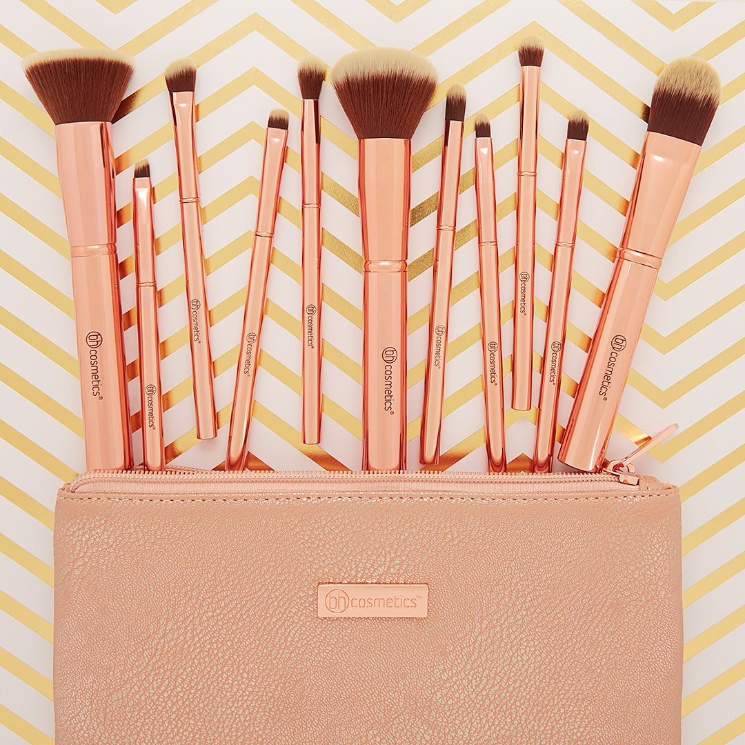 873ac83049ea Discover ideas about Best Makeup Brushes. New Metal Rose Brush Set at bh ...