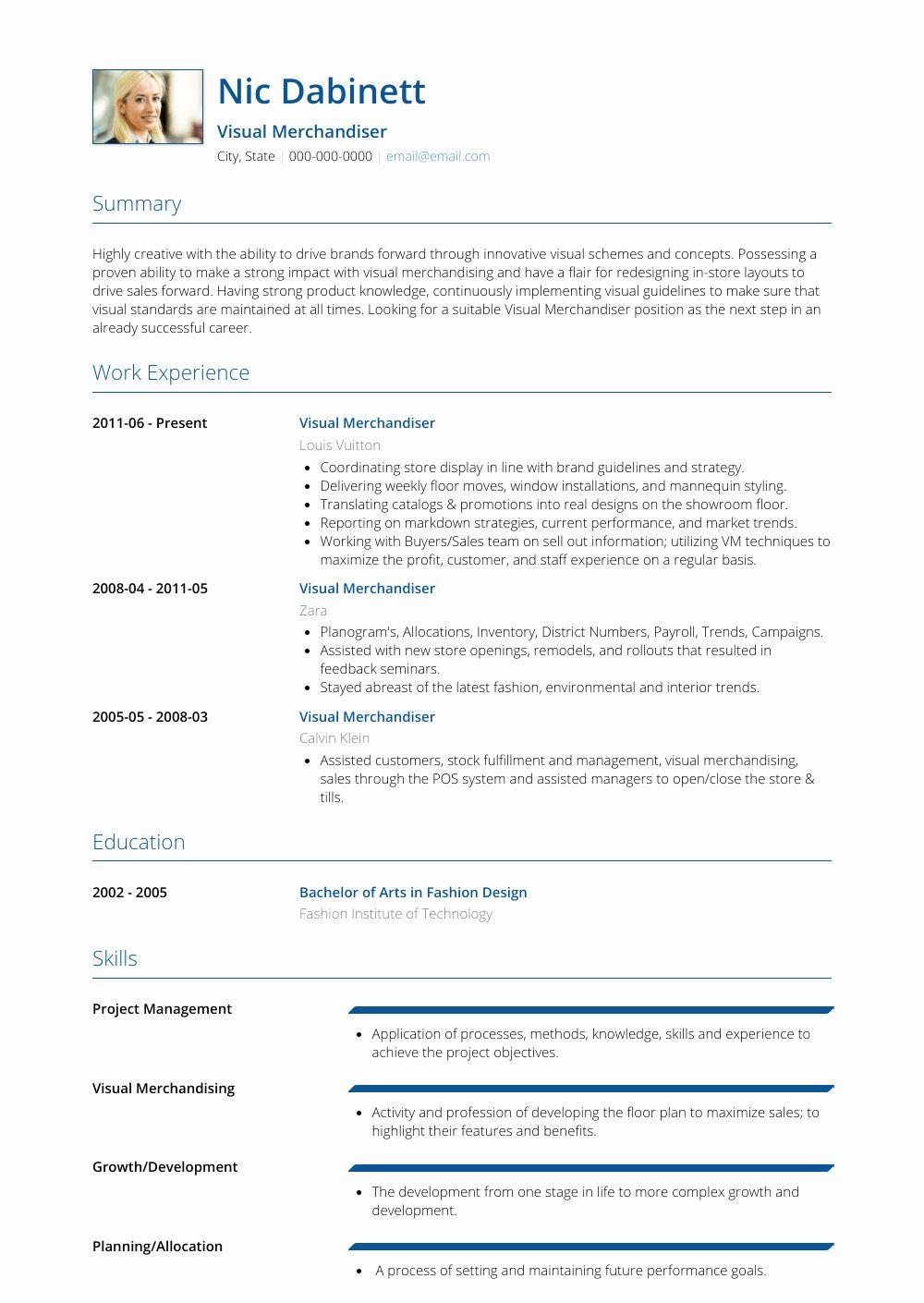 25 visual merchandising resume samples in 2020 visual