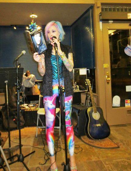 575076f140c06 ... Leggings, Chinese Laundry Holographic Sandals, Black Milk Clothing  Zebra Teal Bodysuit, Sophia James Moss Vest - The unicorn vs the robot  dinosaur...at ...