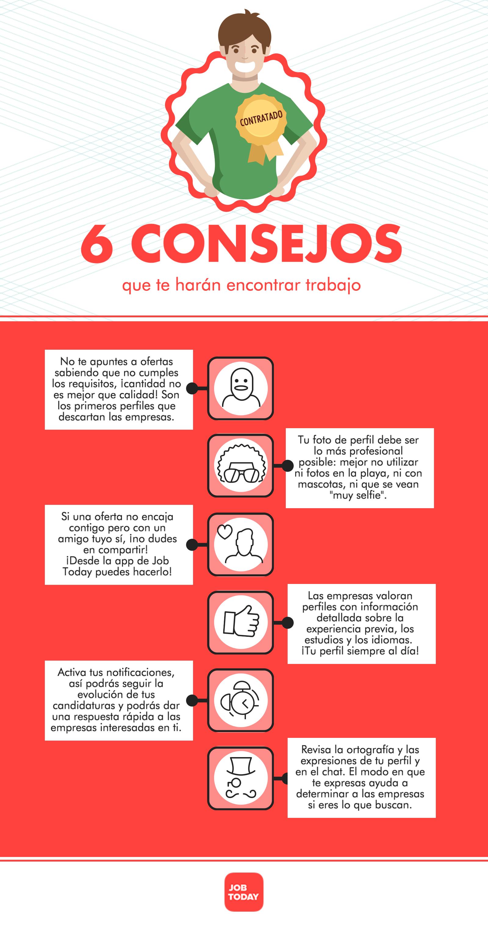 6 consejos para encontrar trabajo #infografia #infographic #empleo ...
