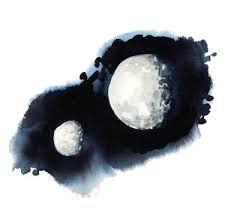 Image result for watercolor moon phase graphic