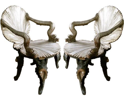 antique shell furniture