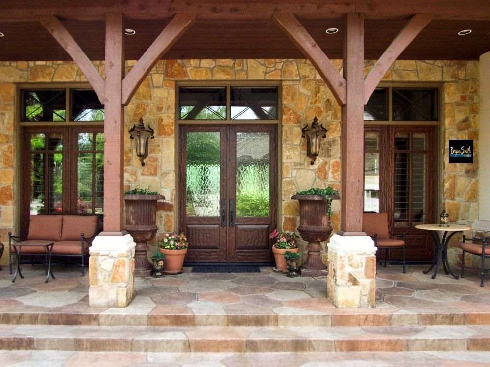Love This Proch Texas Hill Country Porch Home Building