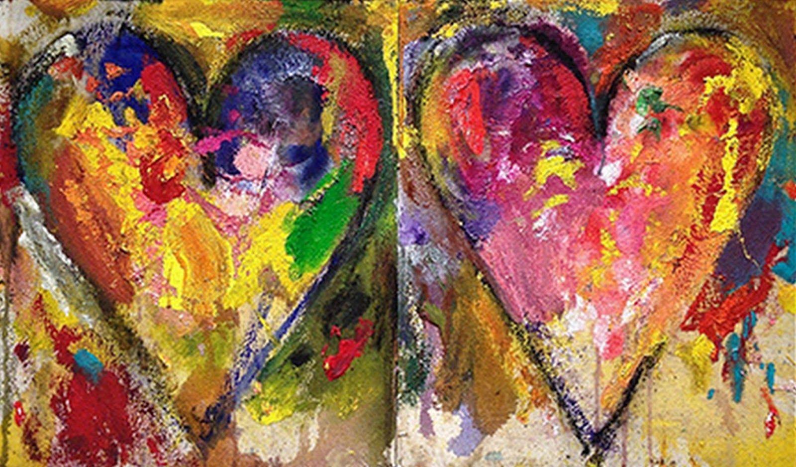 Llamativo Y Vibrante Cuadro Moderno Pintado Al 243 Leo