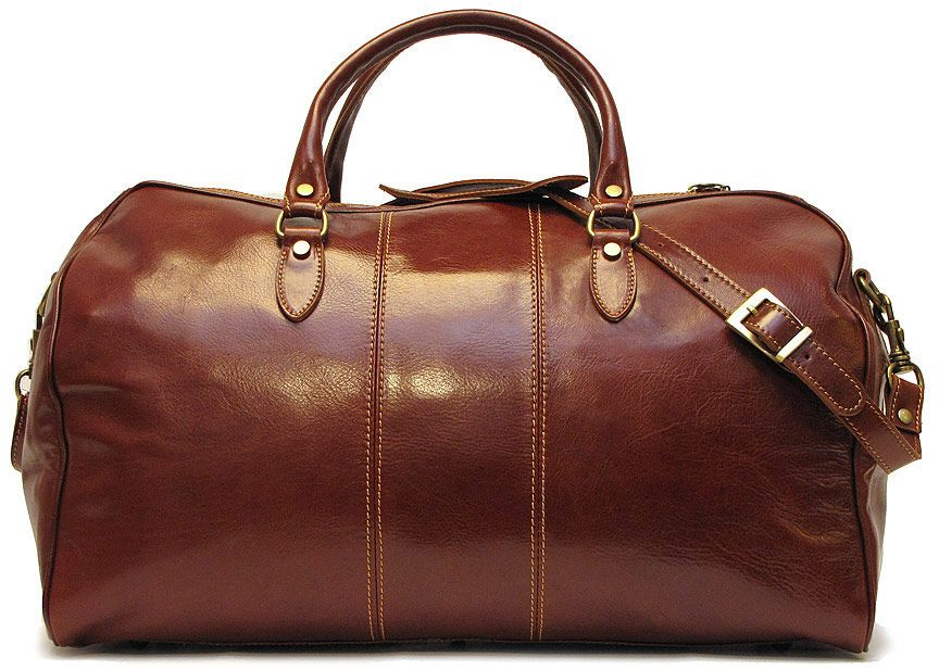 Floto Italian Leather Travel Bag Venezia Duffle Vecchio Brown | oh ...