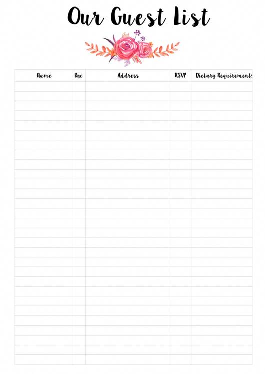 Vous Cherchez Un Planificateur De Mariage Liste Des Invites Telechar In 2020 Wedding Guest List Printable Free Wedding Planner Printables Wedding Planner Printables