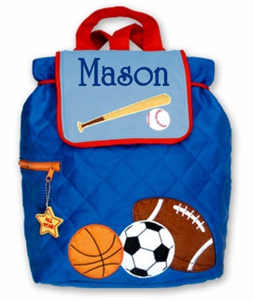 Children Backpack Personalized Sports Stephen Joseph Toddler ...