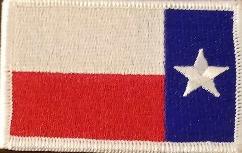 Texas Left Reverse Flag Patch Iron On Tactical Morale Lone Star Emblem White Flag Patches Patches Flag