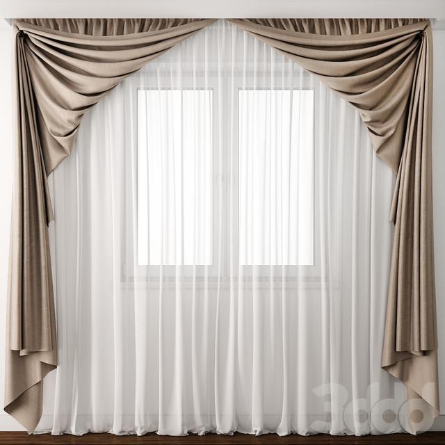 3d модели шторы Curtain 19 Cortinas дизайн занавеса