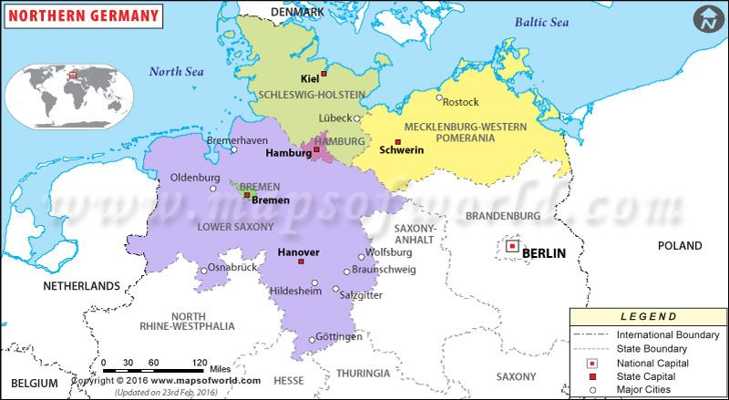 Northern Germany Map Germany Map Germany Map