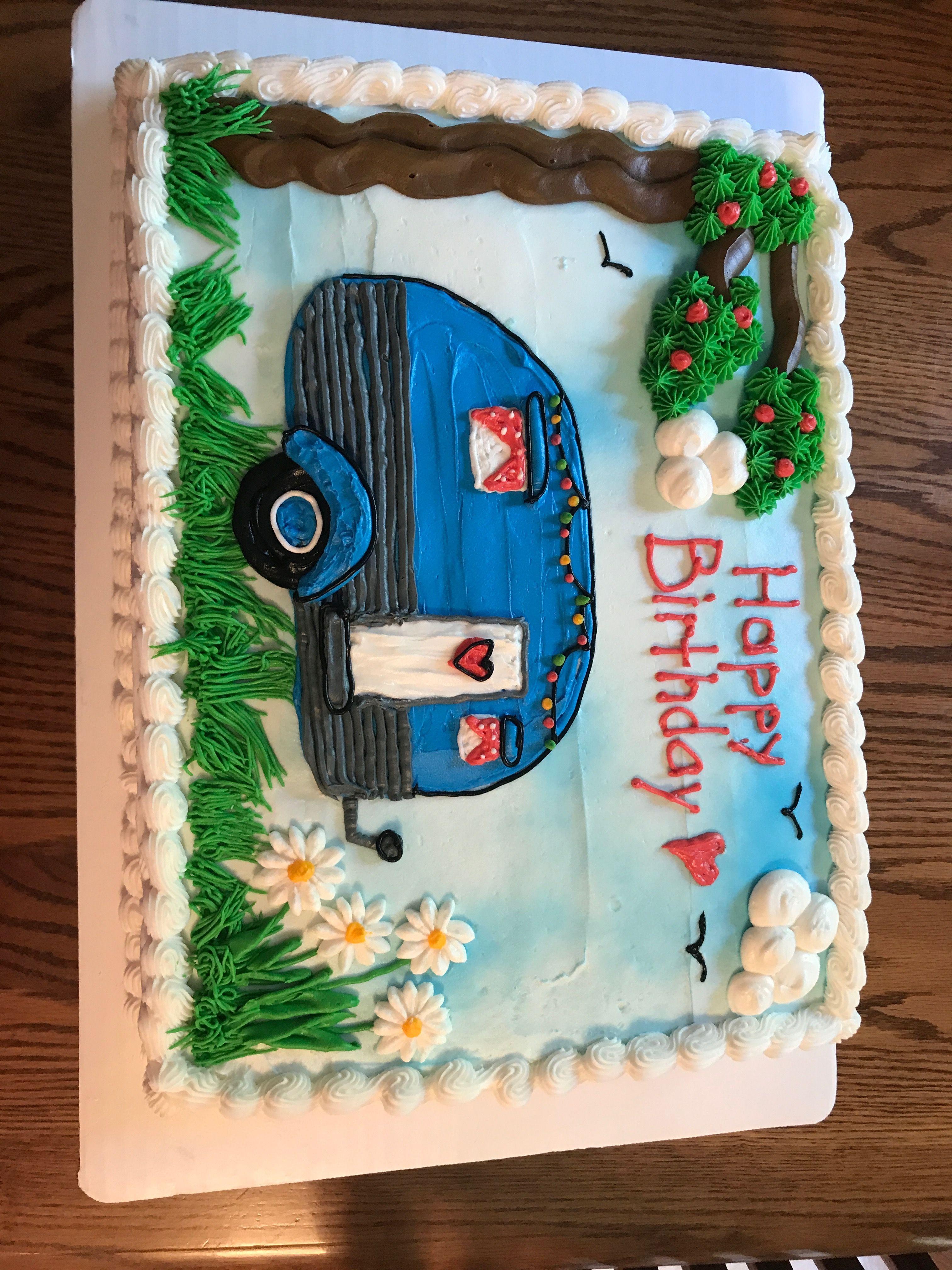 Camper camping Birthday cake   Camping birthday cake, Cake ...