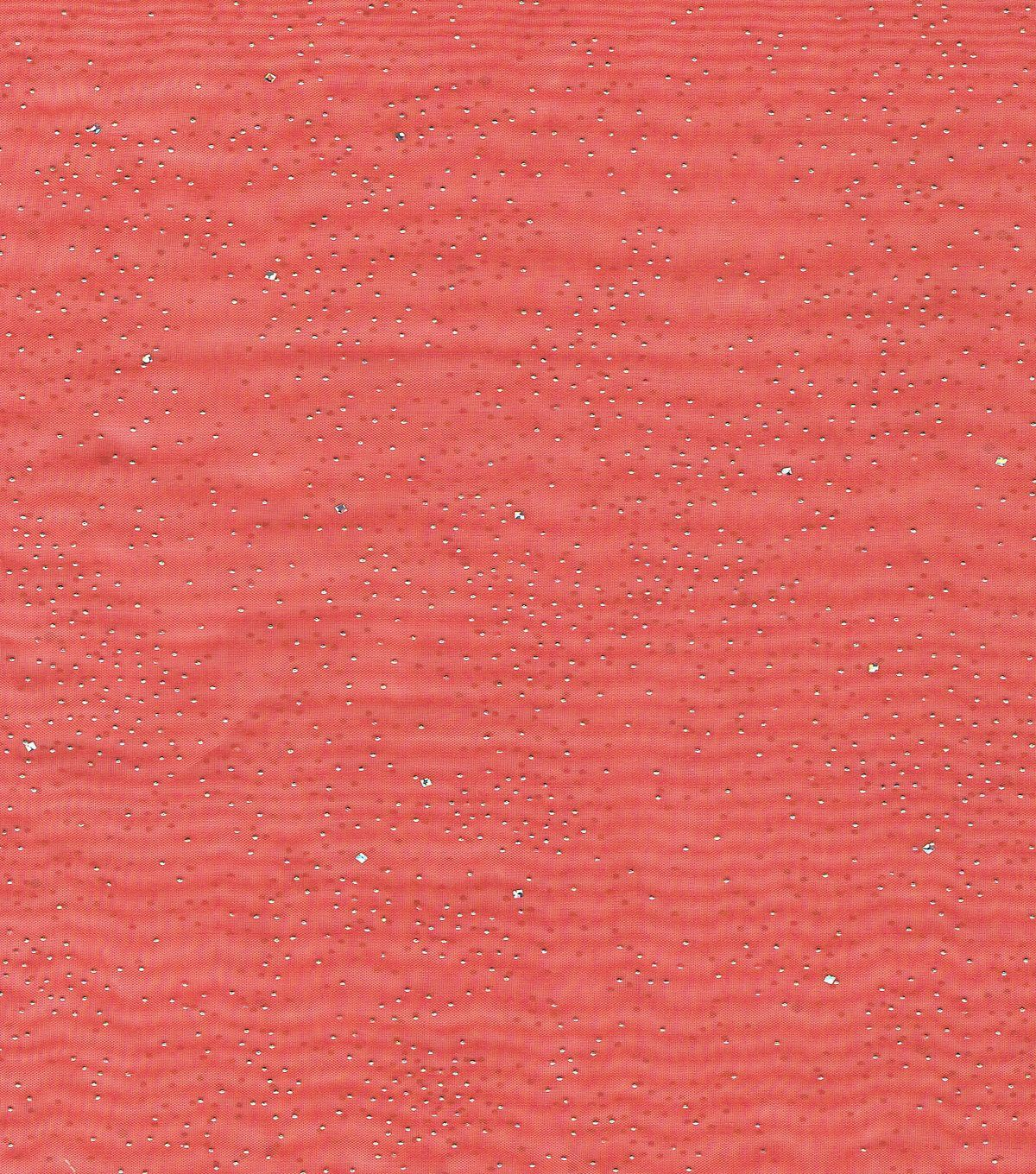 Logantex Casa Collection™ Fairy Dust Embellished Organza Fabric-Red