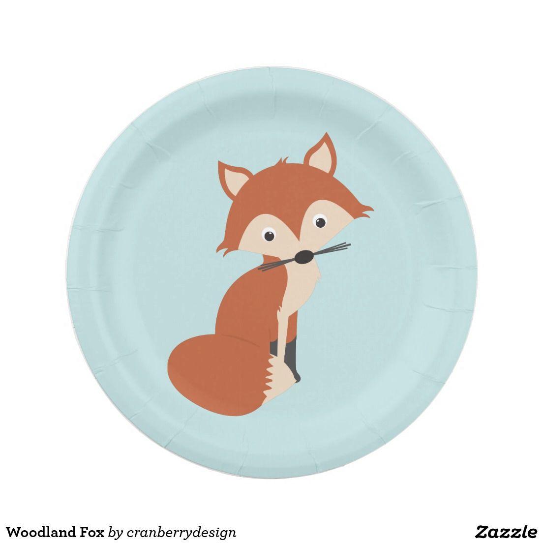 Woodland Fox Paper Plate  sc 1 st  Pinterest & Woodland Fox Paper Plate | Foxes Paper and Plates