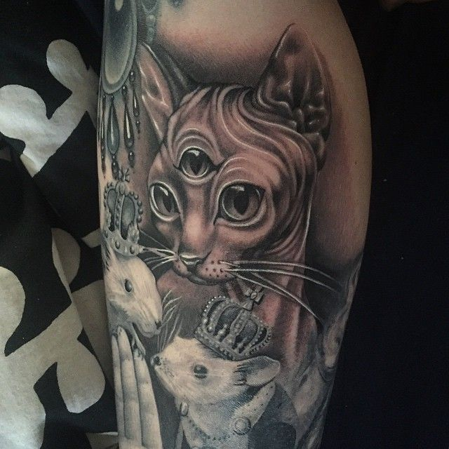 Ryan Ashley Malarkey On Instagram My Client Was A No Show Yesterday So I Tattooed This Kitty Onto My Own Le Cat Tattoo Cat Tattoo Small Watercolor Cat Tattoo