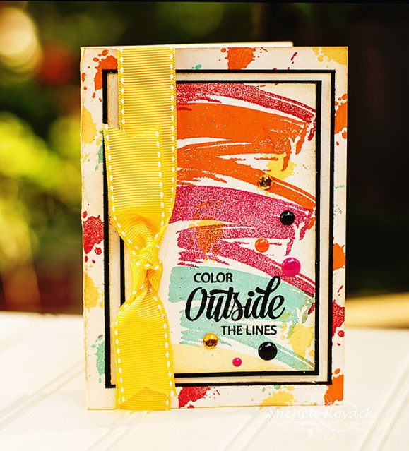 New stamp set by @JustRite called Colorful Brushstrokes! Great set!