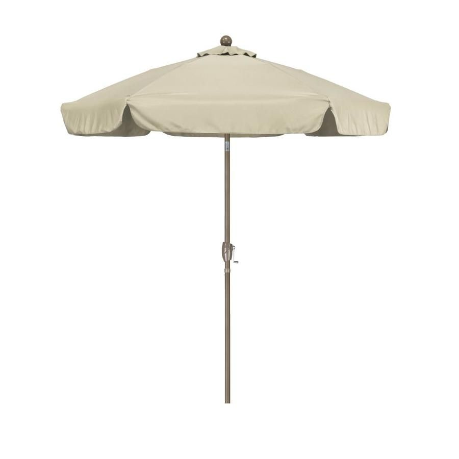 Astella Antique Beige Market 7 5 Ft Push Button Tilt Hexag Lowes Com Patio Umbrella Market Umbrella California Umbrella