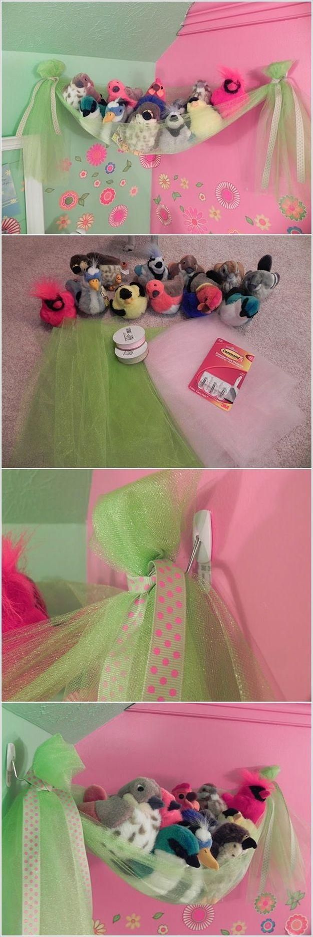 Diy stuffed animal net girls room ideas pinterest stuffed