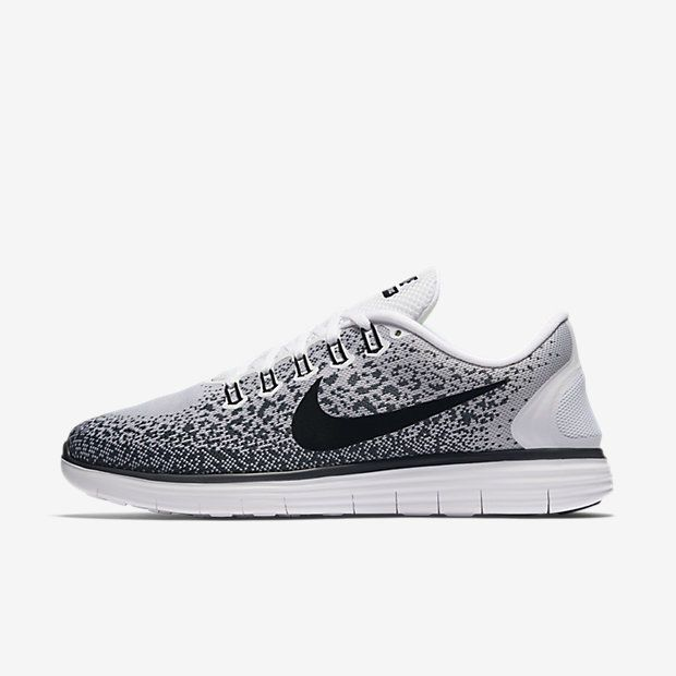 Nike free · Nike Free RN Distance Mens Running Shoes 11 White Black Dark  Grey ...