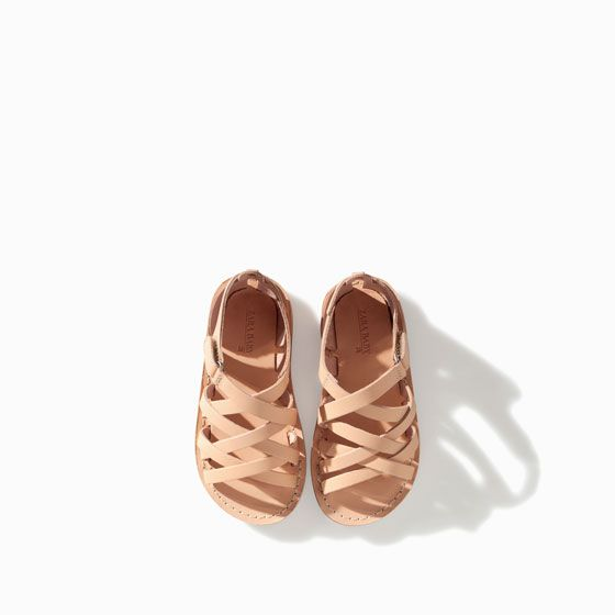 Leather Strappy Sandal Baby Girl New This Week Zara France Cute Baby Shoes Baby Girl Shoes Boys Shoes Kids