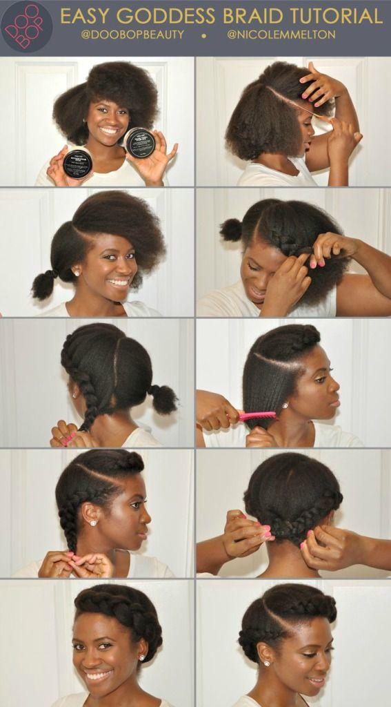 Coiffure protectrice ! … Cheveux naturels, Coiffure