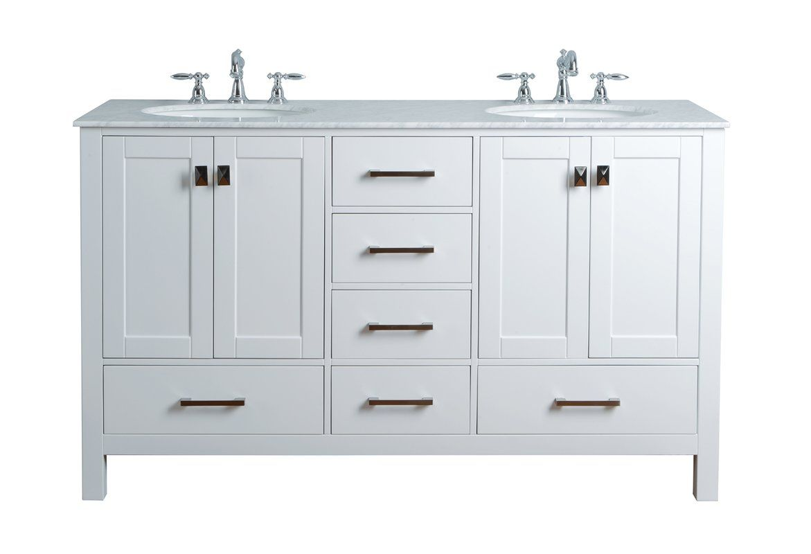 Ankney 60 Double Bathroom Vanity Set With Images Double Sink Bathroom Vanity
