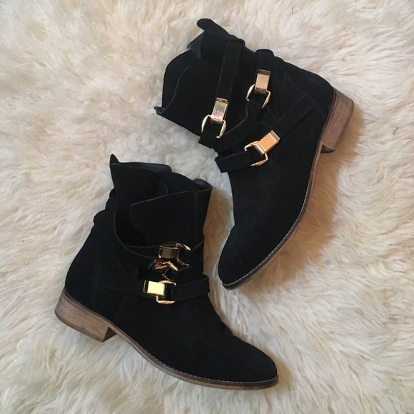 fb0f0a2a23a Black Suede Steve Madden Booties Black Suede Steve Madden Booties ...