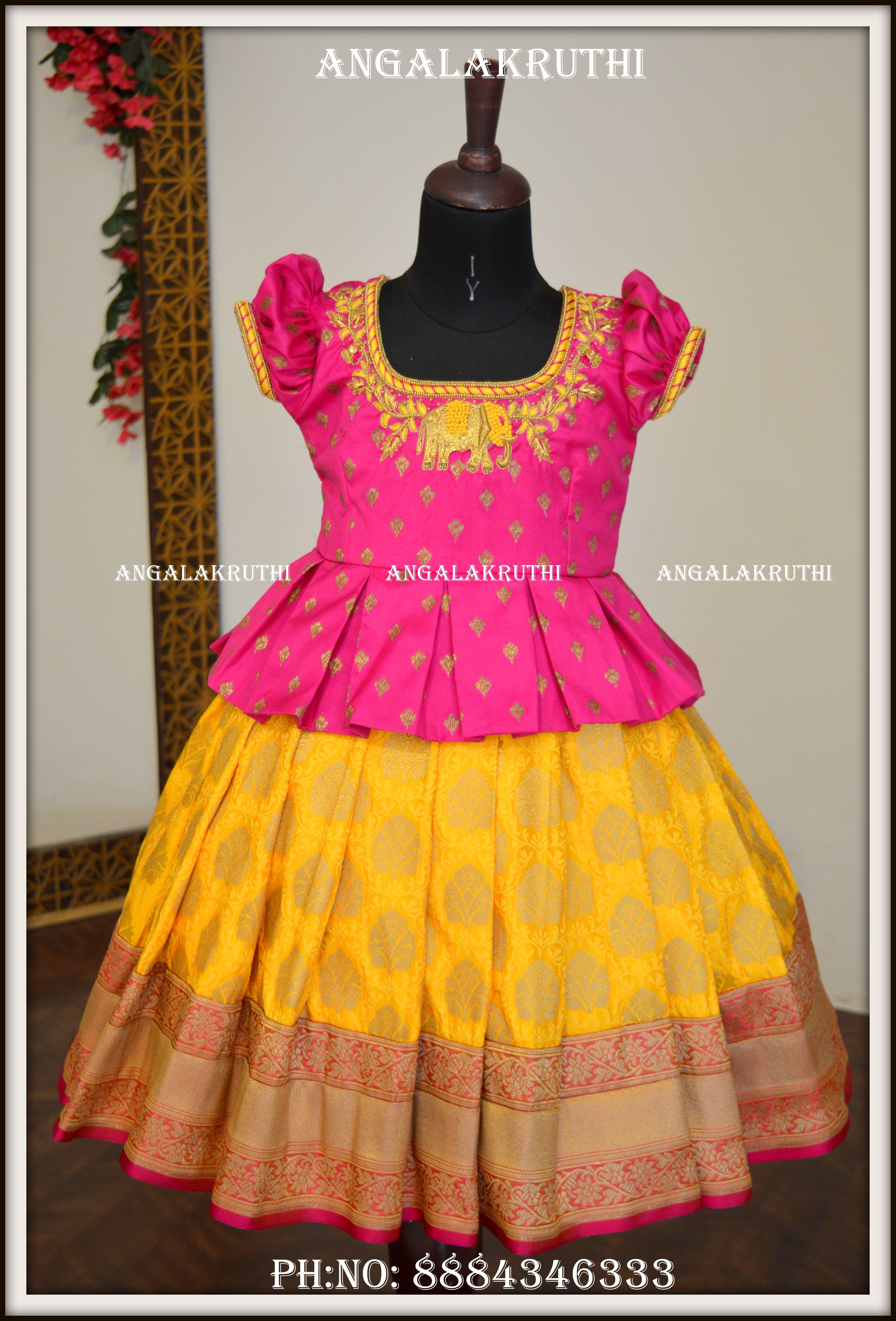 Kids Pattu Pavada Designs Girls Frock Design Kids Frocks Design Kids Designer Dresses