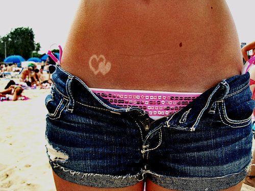 Tattoo Bikini: Bathing Suit And Heart Tan Lines